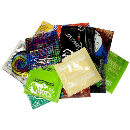 Colors & Flavors Condom Variety Pack assorted condoms
