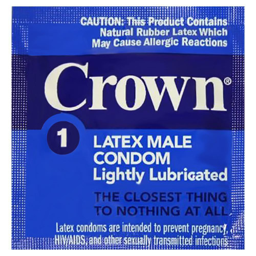 Crown Skin Less Skin individual condom packaging