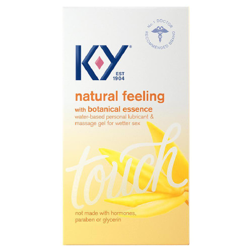 K-Y Natural Feeling Botanical Essence Lubricant front of box