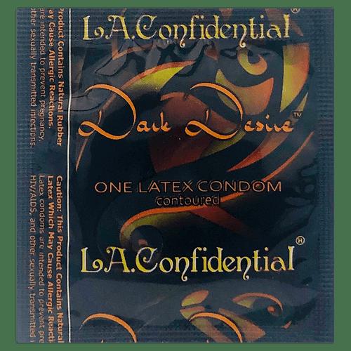 LA Confidential Dark Desire individual condom packaging