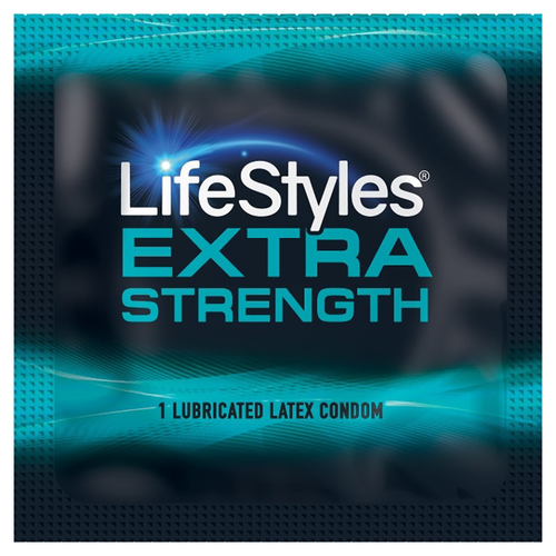 Lifestyles Extra Strength individual condom packaging