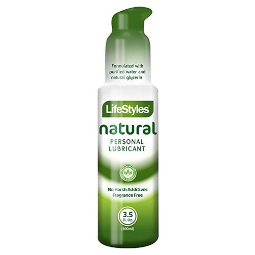 Lifestyles Natural Personal Lubricant front of bottle