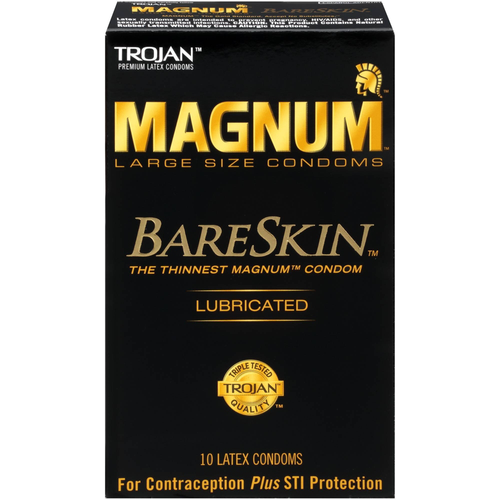 Trojan Magnum BareSkin Condoms front of retail box