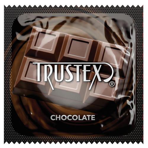 Trustex Chocolate Flavored Lubricated Single Condom Packaging