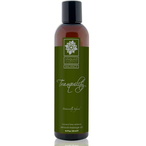 Sliquid Organics Balance Massage Oil Tranquility (Coconut Lime) 8.5oz