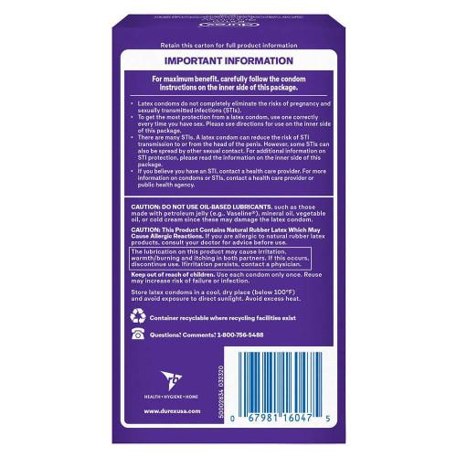 Durex Extra Sensitive Stimulating Package Back
