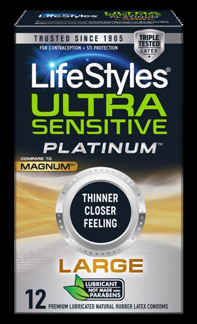lifestyles ultra sensitive platinum large package