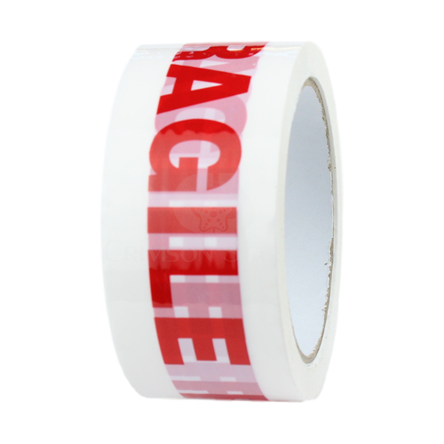 1 Roll - FRAGILE Printed Parcel Tape - Low Noise - 48mm x 66m