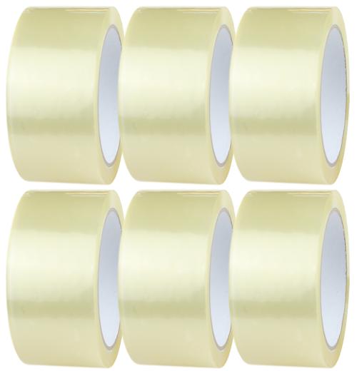 6 Rolls - Clear Parcel Tape - 48mm x 66m