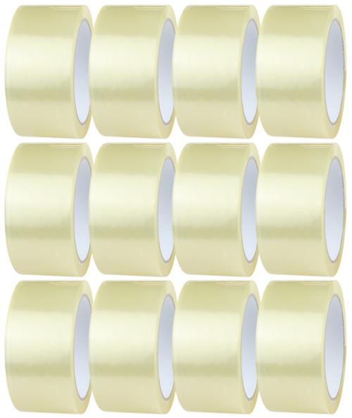 12 Rolls - Clear Parcel Tape - 48mm x 66m