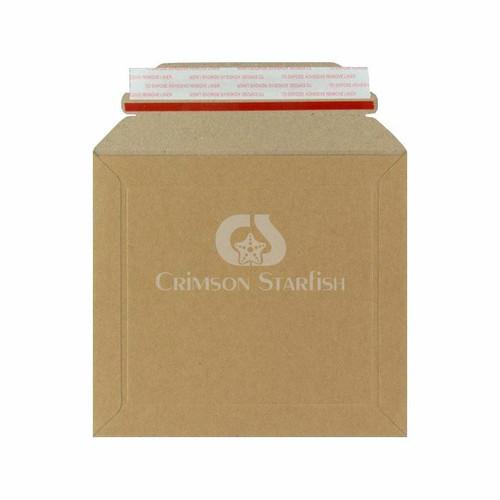100x Rigid Cardboard Envelopes - 164mm x 180mm