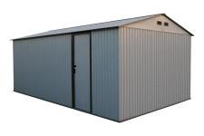 Duramax Imperial Metal Garage Off White Brown 12x20