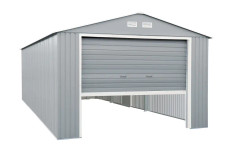 Duramax 12x20 Imperial Metal Garage Lite Gray w/Off White Trim
