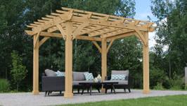 Yardistry Meridian Pergola with Premium Cedar Lumber (10 ft. x 12 ft.)