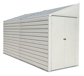 Yardsaver 4 x 10 ft. Steel Storage Shed Pent Roof Eggshell