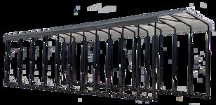 Arrow Carport, 14x51x14, Charcoal
