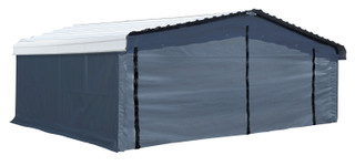 Arrow Enclosure Kit ONLY for Arrow Carport, 20 ft. x 20 ft. Gray