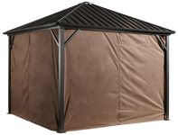 Sojag Curtains for Dakota 10 x 10 ft Brown - Gazebo Not Included