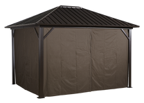 Sojag Curtains for Genova 10 x 10  ft Brown - Gazebo Not Included