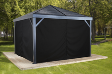 Sojag Curtains for South Beach, Valencia 12 x 12 ft Black - Gazebo Not Included