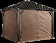 Sojag Curtains for Dakota 10 x 12 ft Brown - Gazebo Not Included