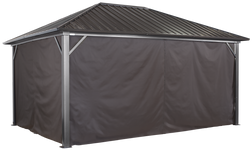 Sojag Curtains for Genova 12 x 16 ft Brown - Gazebo Not Included