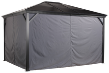 Sojag Curtains for Verona 10 x 10 ft Grey - Gazebo Not Included