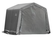 ShelterLogic Shed-in-a-Box 10 x 10 x 8 ft Peak Gray