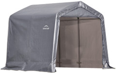 ShelterLogic Shed-in-a-Box 8 x 8 x 8 ft Peak Gray