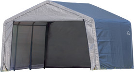 ShelterLogic Shed-in-a-Box 12 x 12 x 8 ft Peak Gray