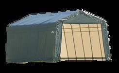 ShelterCoat 12 x 28 ft. Garage Peak Green STD