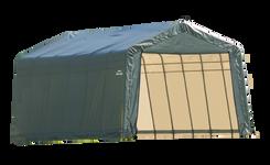 ShelterCoat 12 x 24 ft. Garage Peak Green STD
