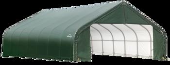 ShelterCoat Garage 28 x 28 x 20 ft. Peak Standard Green
