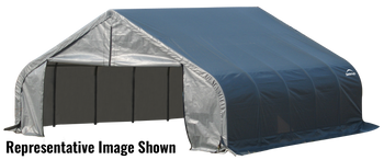 ShelterCoat Garage 18 x 24 x 9 ft. Peak Standard Grey