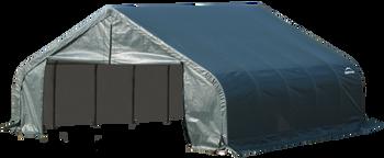 ShelterCoat Garage 18 x 28 x 9 ft. Peak Standard Green