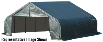 ShelterCoat Garage 18 x 24 x 9 ft. Peak Standard Green