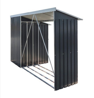 Duramax WoodStore Combo Anthracite Shed with Off White Trim