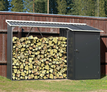 Duramax WoodStore Combo Green Shed with Off White Trim