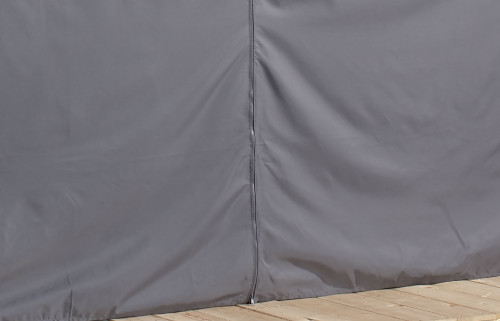 Sojag Curtains for Meridien 12 x 16 ft Grey - Gazebo Not Included