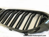RENNESSIS BMW G30 G31 M Look Gloss Black Kidney Grilles with Double Slats