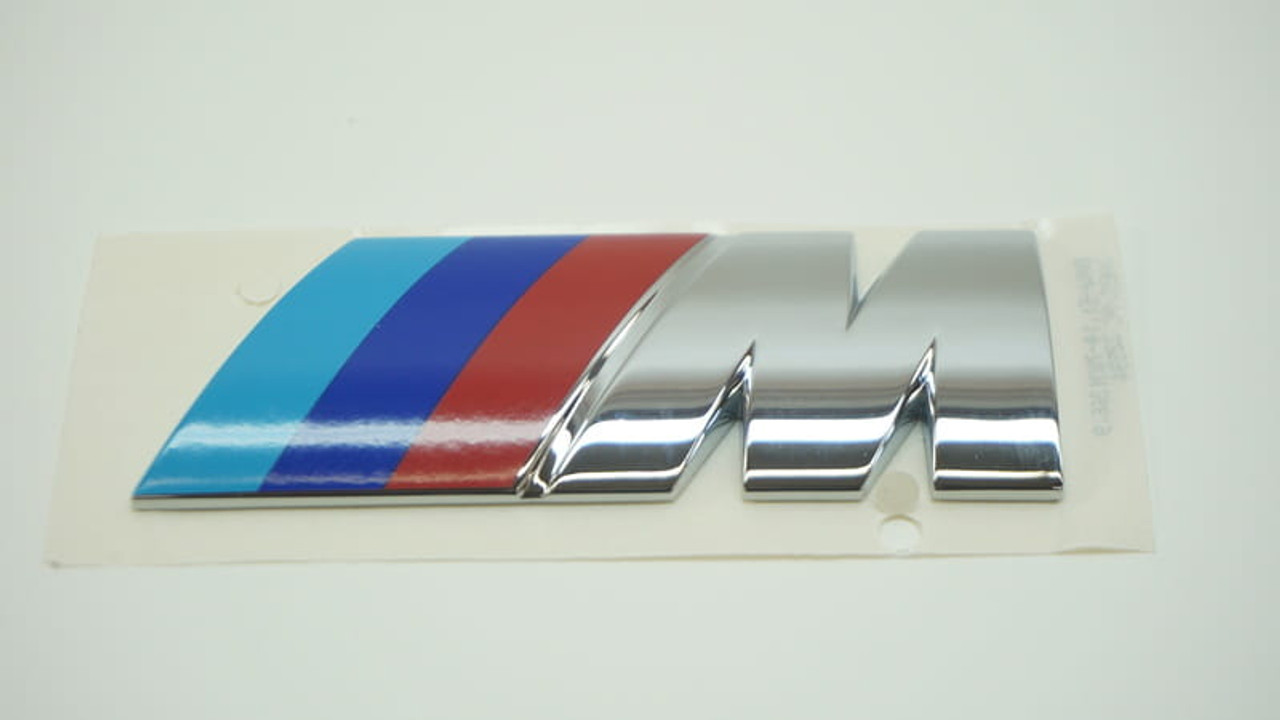 Genuine Bmw M Emblem Badge For Engine Cover Wings Bootlid