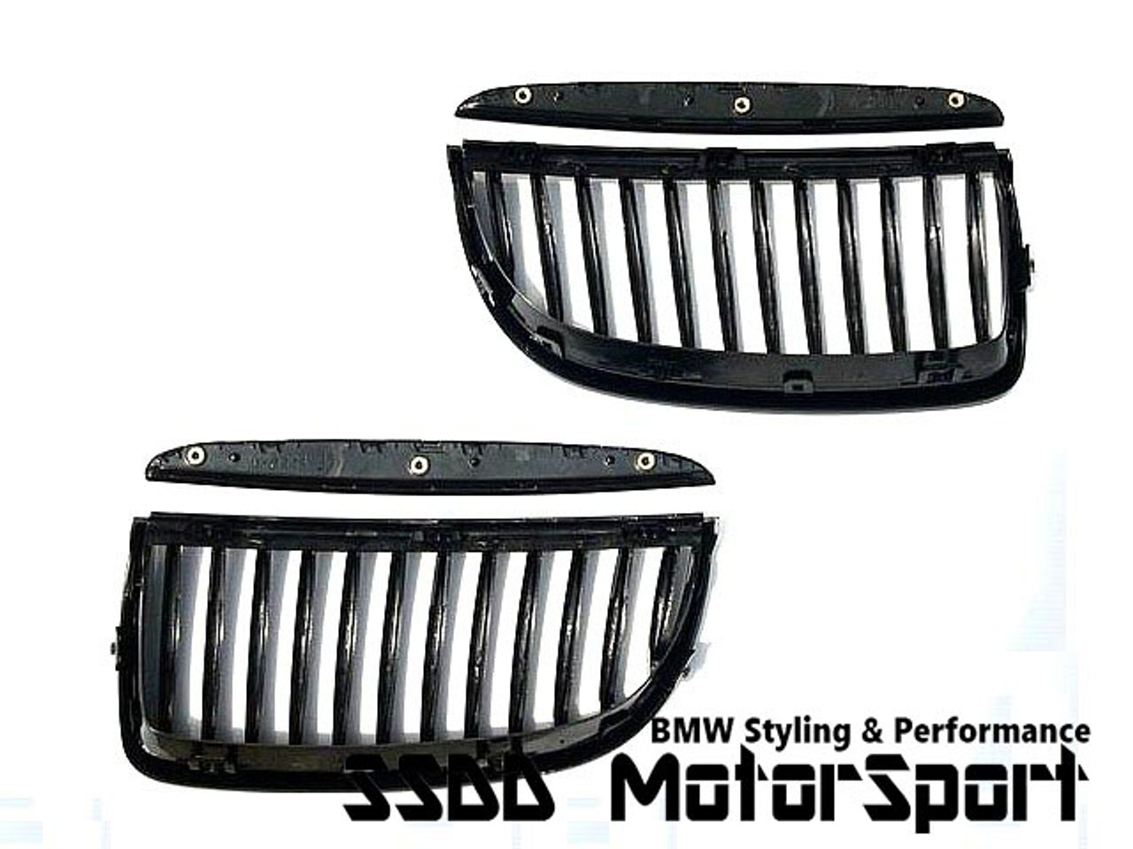 RENNESSIS High Gloss Black Kidney Grilles for BMW E90 E91