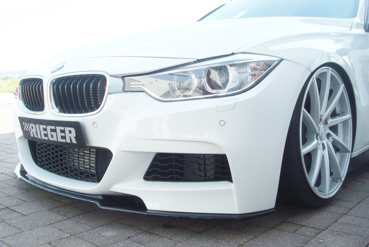 Rieger High Gloss Black Front Spoiler For Bmw F30 F31 Msport Models
