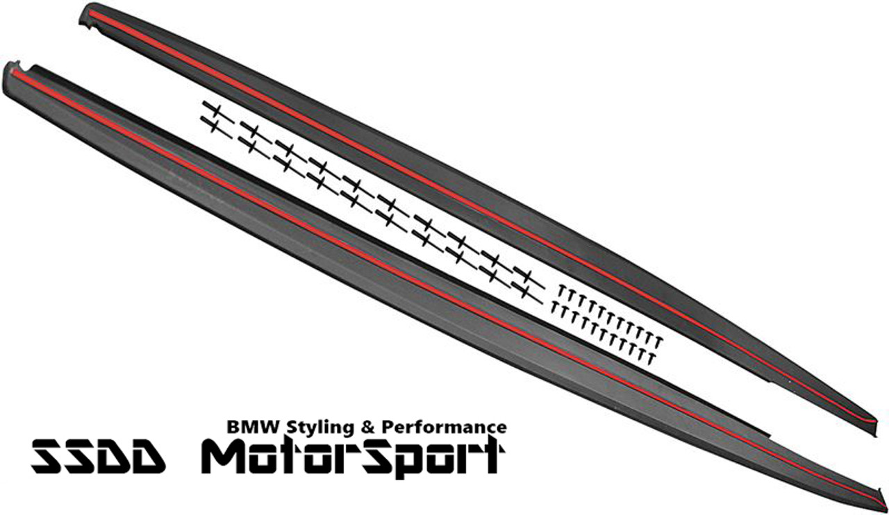 BMW 3 SERIES F30 F31 M PERFORMANCE STYLE SIDE SKIRT EXTENSION BLADES