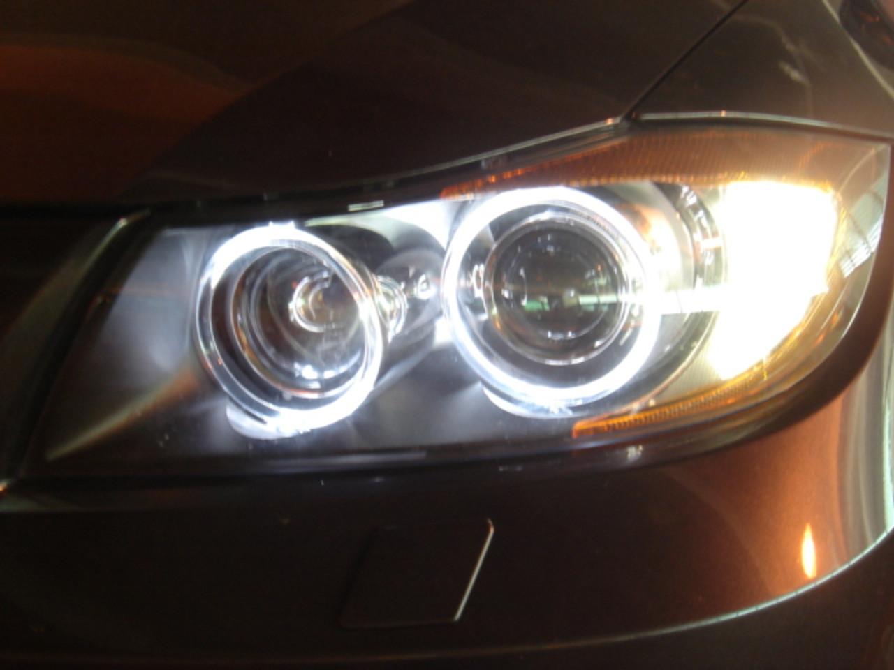 Rennessis V3 White Led Angel Eyes Upgrde Bulbs For E90 E91 Pre Lci