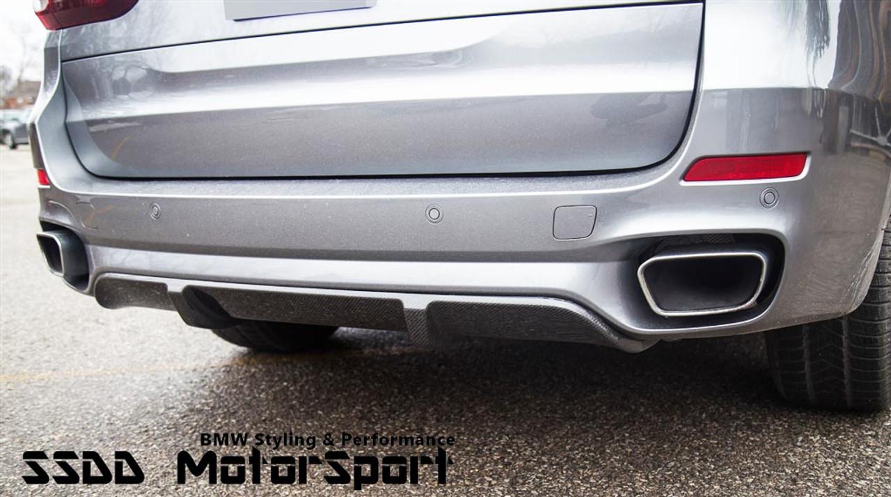 RENNESSIS Carbon Fibre Aero Diffuser for BMW F15 X5 M Sport