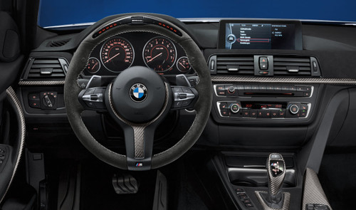 Genuine BMW F20 F22 F30 F32 F36 M Performance Alcantara Carbon Steering Wheel with Race Display