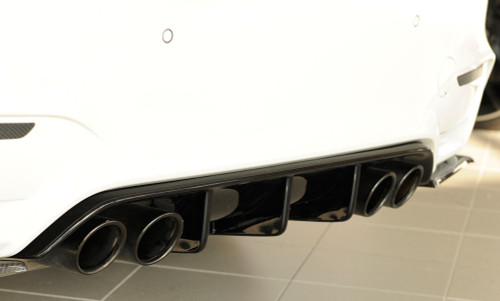 RIEGER BMW F80 M3 F82 M4 Gloss Black Rear Bumper Diffuser - ABS Plastic