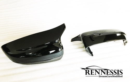 RENNESSIS M5 Look Carbon Fibre Replacement Mirror Covers for BMW G30 G31 5 Series (RHD UK)