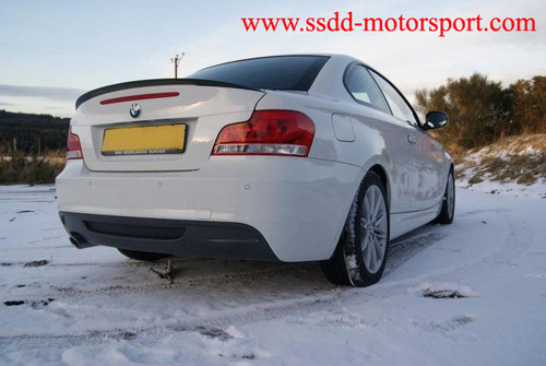 Painted E82 Performance Style High Kick Spoiler ABS Plastic